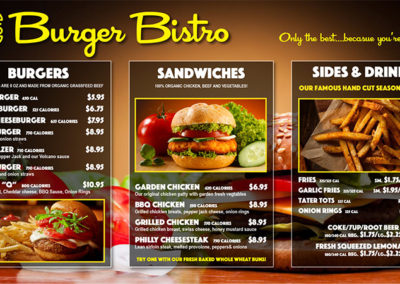 Burger BIstro Menu 1