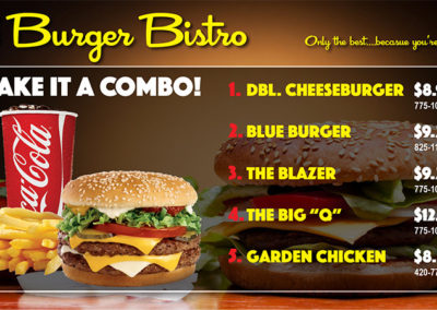 Burger BIstro Menu 2